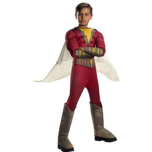 Kids Superhero Shazam Muscle Cosplay Jumpsuit Halloween Costumes