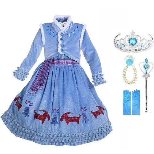 Frozen 2 Princess Anna Halloween Carnival Cosplay Costumes Kids Dress