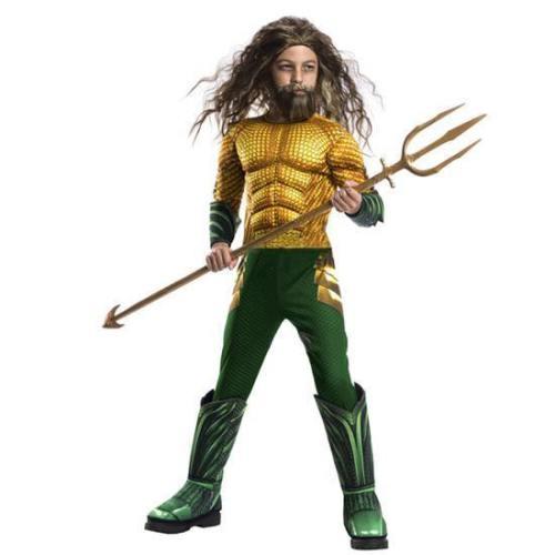 Kids Boys Aquaman Halloween Muscle Cosplay Superhero Jumpsuits Costume