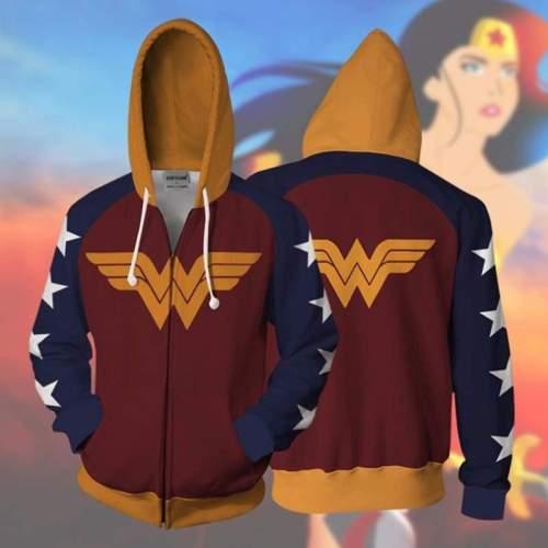 Wonder Woman Hoodie - Diana Prince Zip Up Hoodie