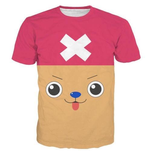 One Piece T-Shirt - Chopper Tee 3D Print T-Shirt Csso034