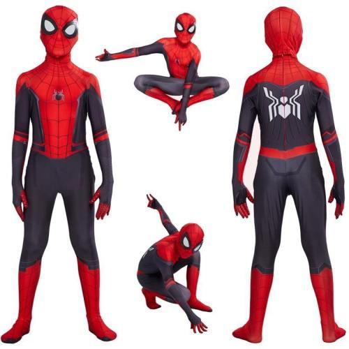 Spider Man Far From Home Peter Parker Cosplay Costume Zentai Spiderman Superhero Bodysuit Jumpsuits Halloween Costume