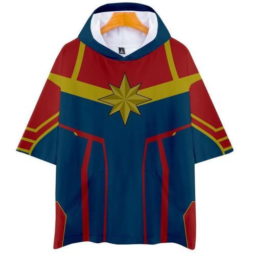 Captain Marvel T-Shirt - Carol Danvers Graphic Hoodie T-Shirt Csos944