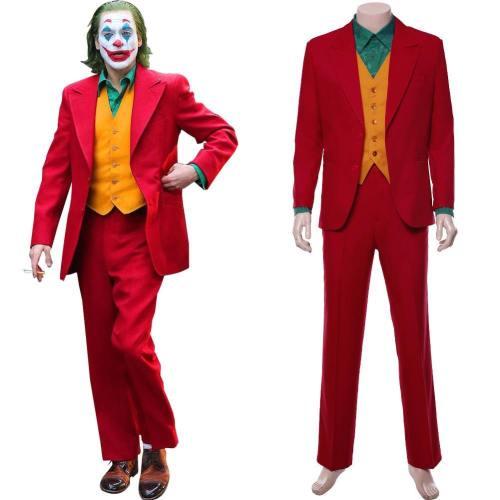 Joker  Joaquin Phoenix Arthur Fleck Joker Cosplay Costume (Able To Arrive Before Halloween)
