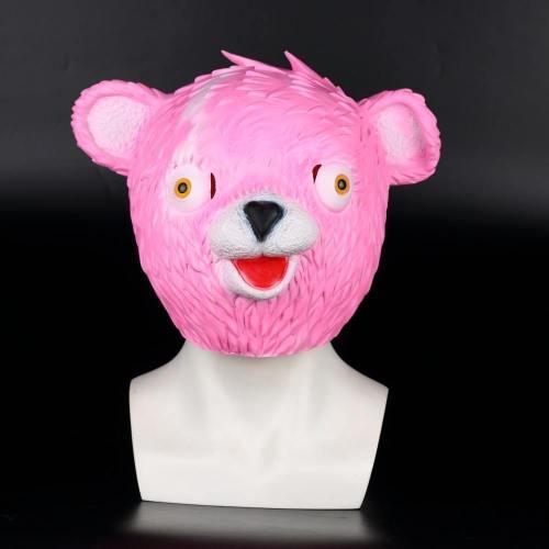 Fortnite Pink Cuddle Team Leader Mask Helmet Adults Latex