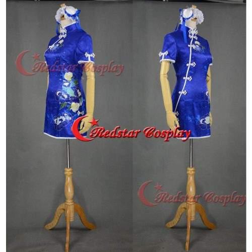 Love Live Kousaka Honoka Cheongsam Chinoiserie Minami Kotori Girl Sexy Blue Dress Cosplay Costumes