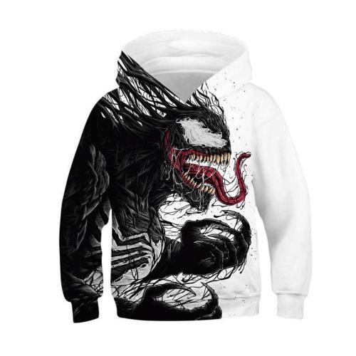 Kids Venom Printed Hoodie Novely Teens Sweatshirt Pullover