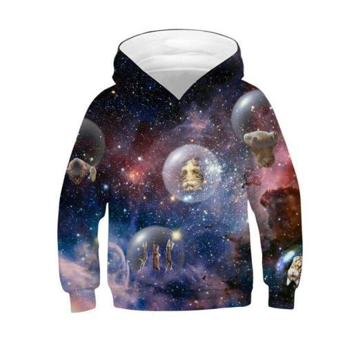 Teen 3D Hoodie Tinny Animal Printed Sweatshirt
