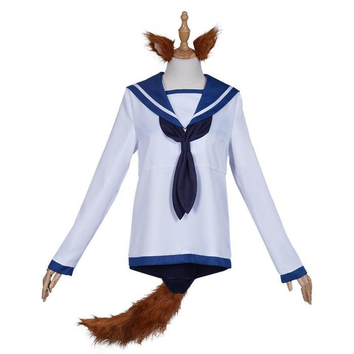 Strike Witches Miyafuji Yoshika Sailor Suit Dress Swimwear Outfits Halloween Carnival Suit Cosplay Costume