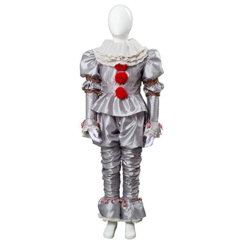 It 2 Pennywise The Clown Outfit Suit Halloween Cosplay Costume For Kids Child