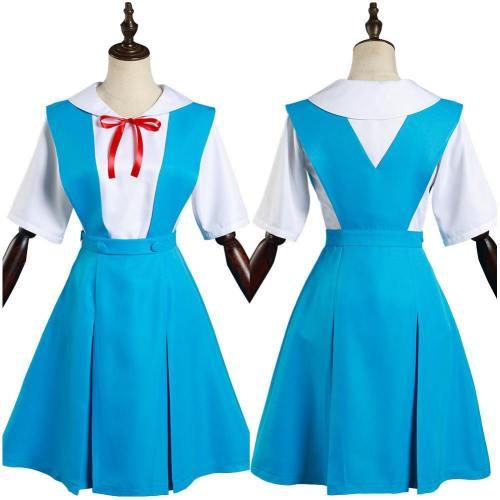Neon Genesis Evangelion Eva Asuka Langley Soryu/Ayanami Rei School Uniform Dress Outfits Halloween Carnival Suit Cosplay Costume