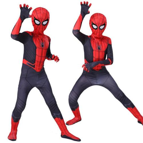 Kids Far From Home Peter Parker Spider Man Cosplay Costumes Bodysuit