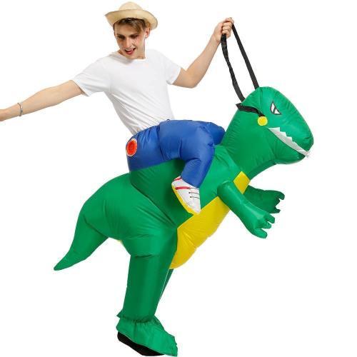 Inflatable Green Dinosaur Costumes Purim Halloween Animal Cosplay