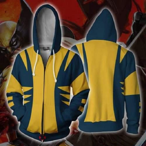 Marvel Comics Hoodie - X-Men Zip Up Hoodie