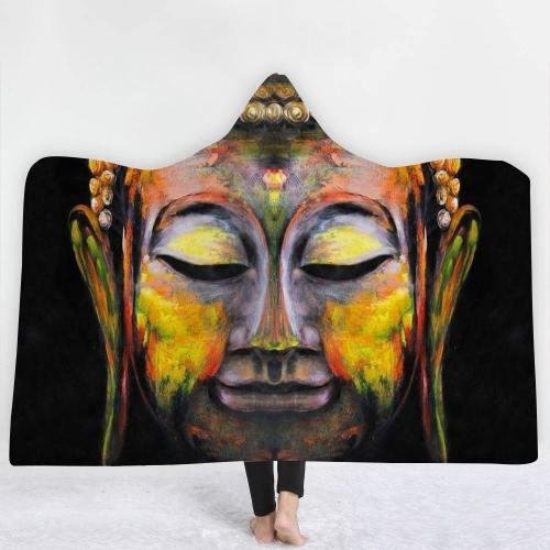 Buddha Paint 3D Hooded Blanket