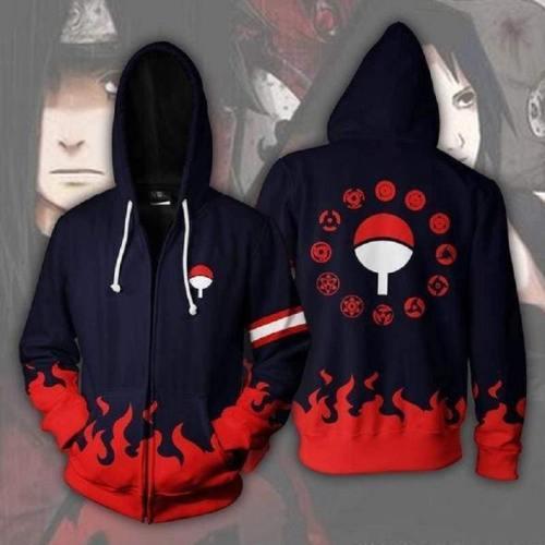 Naruto Hoodies - Uchiha Clan Zip Up Hoodie