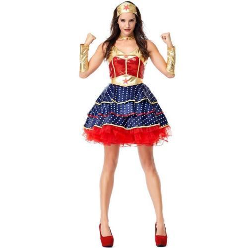 Wonder Woman Justice League Super Hero Sexy Fancy Dress Cosplay Costume