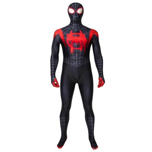 Spider Man: Into The Spider-Verse Miles Morales Spiderman Costume Halloween Cosplay Suit