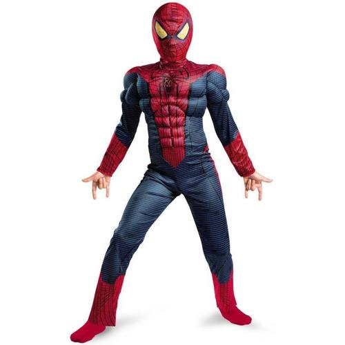 Amazing Spiderman Classic Muscle Superhero Halloween Carnival Party Cosplay Costume