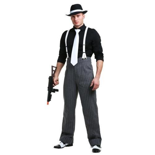 Mens Mafia Underboss 'S Style Gangster Costume