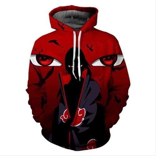 Unisex Uchiha Itachi Hoodies Naruto Pullover Character Printed Jacket Sweatshirt