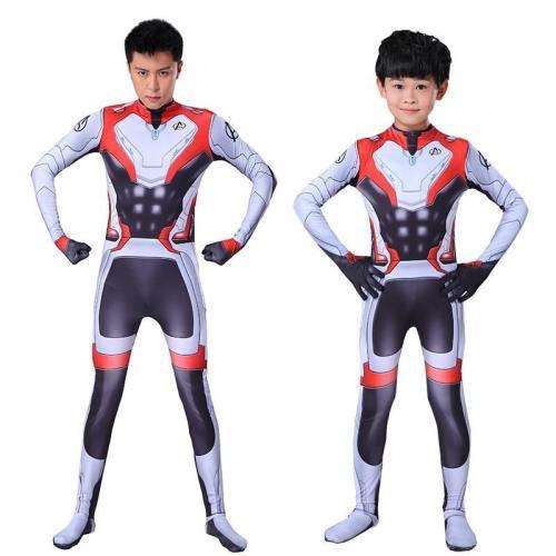 Marvel Kids Adult Avengers 4 Endgame Quantum Realm Costumes Bodysuit