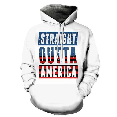 Straight Outta America 3D - Sweatshirt, Hoodie, Pullover
