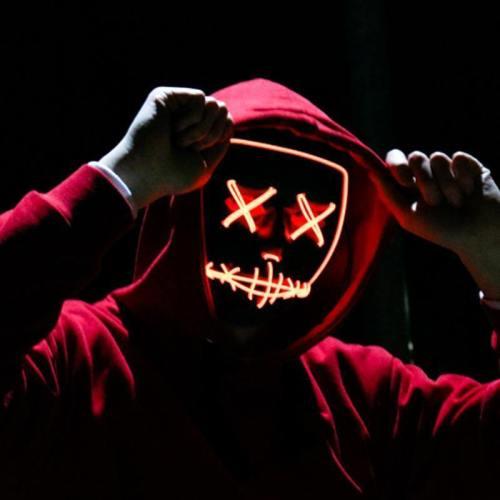 Led Mask Halloween Party Masque Masquerade Masks Neon Maske Light Glow