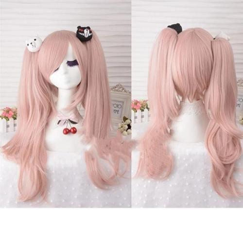 Danganronpa Dangan Ronpa Junko Enoshima Light Pink Hair Wigs Cosplay