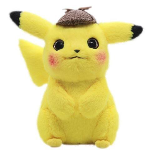 Anime Pikachu Plush Stuffed Detective Toys Doll Kid Birthday Gifts