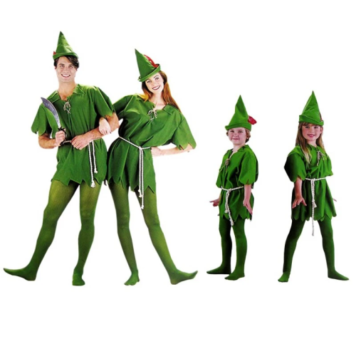 Child Kids Women Girls Boys Cartoon Movie Peter Pan Halloween Costume