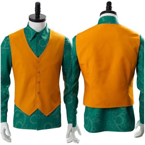 Joker Joaquin Phoenix Arthur Fleck Shirt With Vest Cosplay Costume
