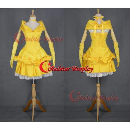 Beauty And The Beast Belle Princess Evening Party Dress Costume Cosplay