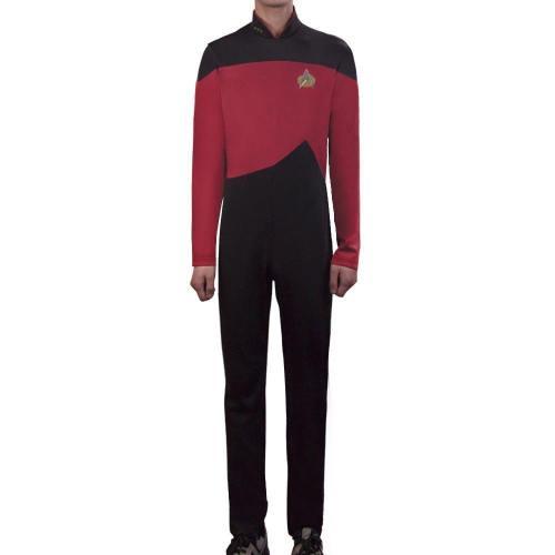 Star Trek Tng The Next Generation Jumpsuit Uniform Costume Yellow/Blue/Red