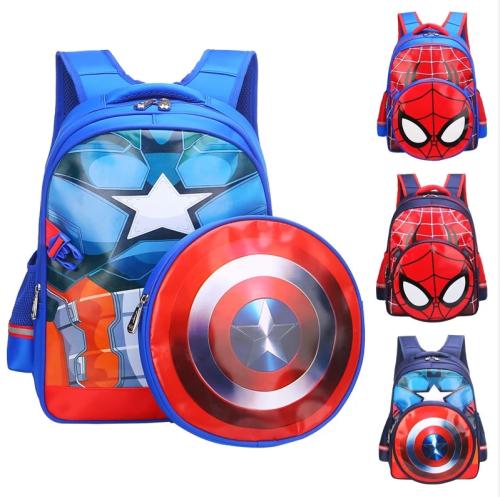 Avengers: Endgame Cosplay Captain America Backpack Bags Steve Rogers Spiderman Students Decompression Bag Kids Superhero Cosplay