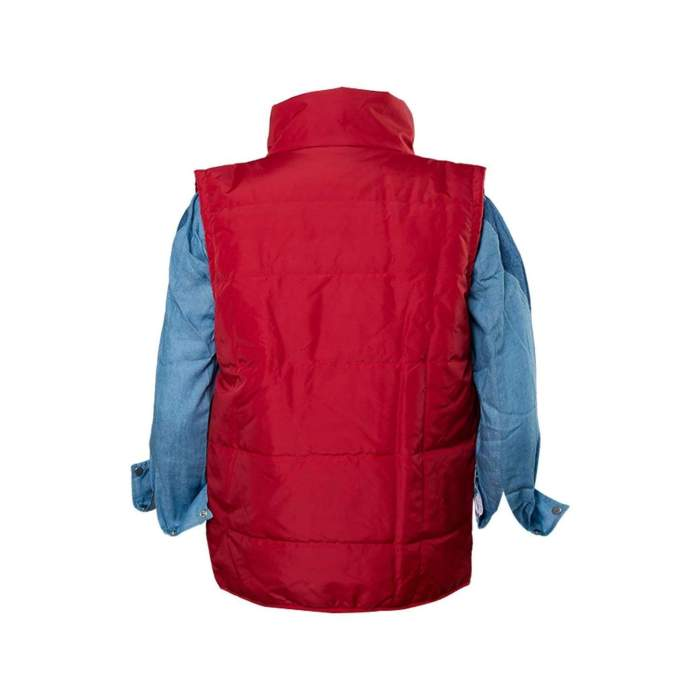Back To The Future Cosplay Costume Marty Mcfly  Red Waistcoat