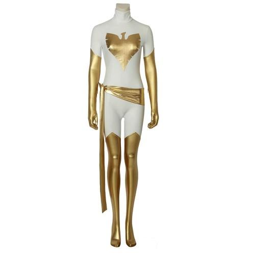X-Men White Phoenix Jumpsuit Costume Cosplay