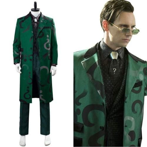 The Riddler Edward Nygma Gotham Season 5 Uniform Green Cosplay Costume