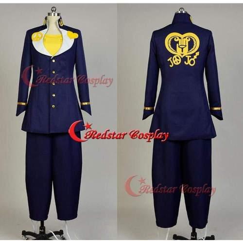 Jojo'S Bizarre Adventure Josuke Higashikata Cosplay Costume Outfit Suit Jacket