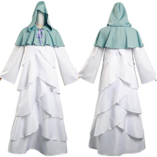 The Promised Neverland Mujika Long Robe Cloak Outfits Halloween Carnival Suit Cosplay Costume