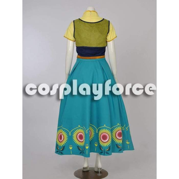 Frozen Fever Anna Cosplay Costume Mp002712
