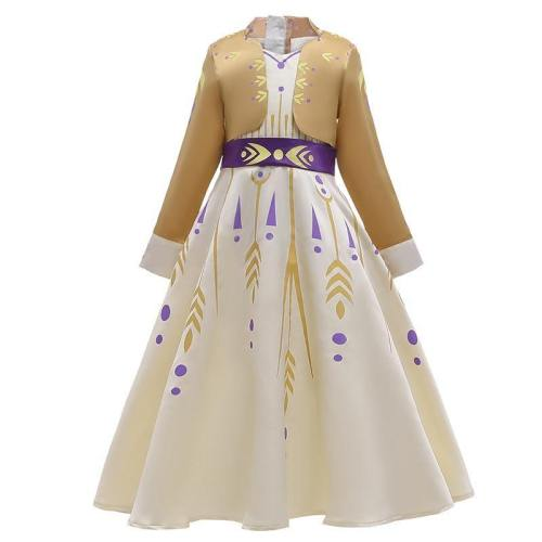 Frozen 2 Cosplay Queen Elsa Dresses Elsa Elza Costumes Princess Anna Dress Girls Christmas Gift