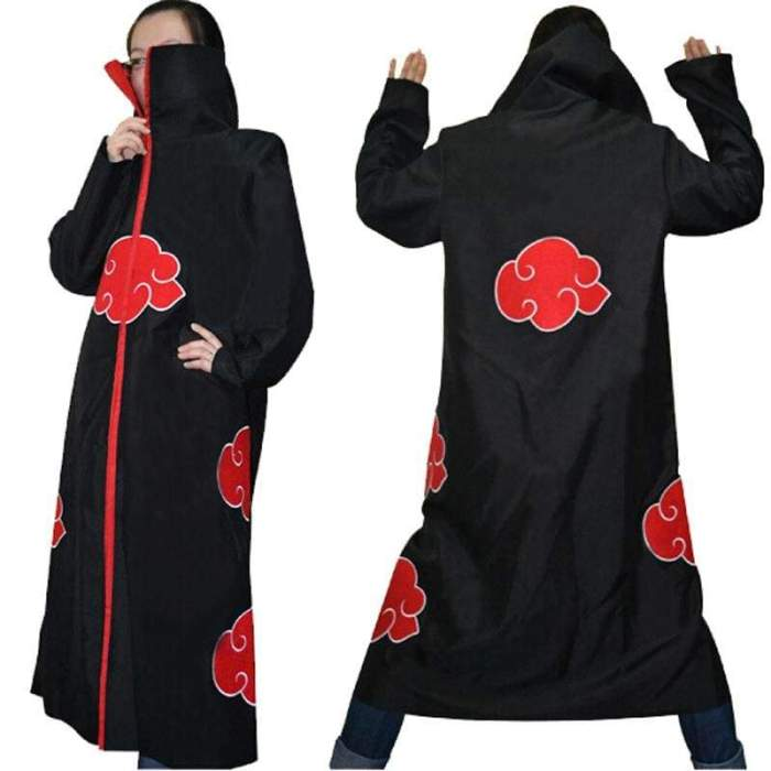 Halloween Costume Naruto Akatsuki Uchiha Itachi Cosplay Costume Cloak