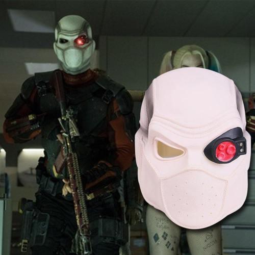 Suicide Squad Deadshot Cosplay Helmet With Light Halloween Mask