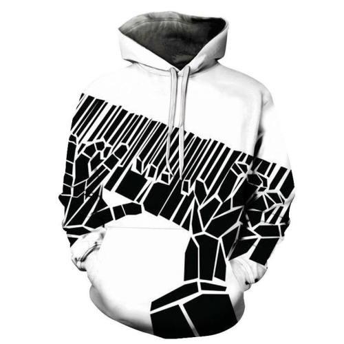 3D Black Piano Keys Playing - Hoodie, Sweatshirt, Pullover