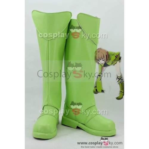 World Trigger Tamakoma First Kirie Konami Green Boots Cosplay Shoes