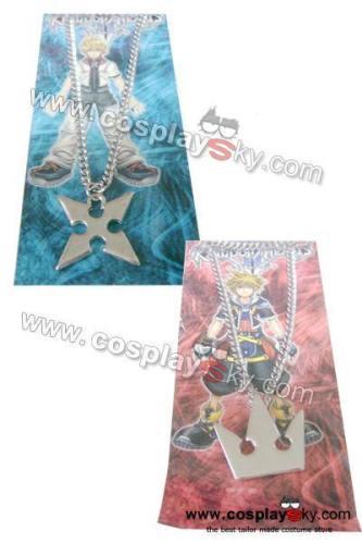 Kingdom Hearts Sora'S Crown & Roxas'S Cross Necklaces