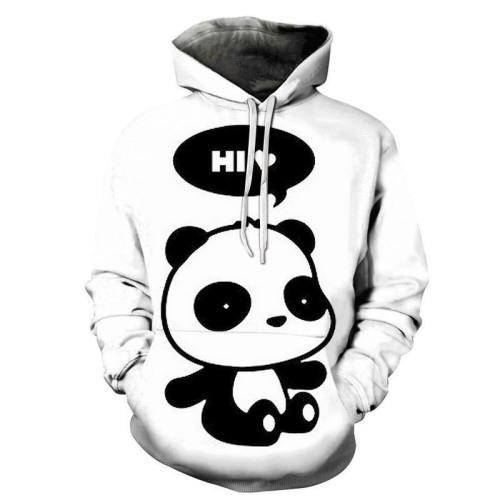 Hi Panda 3D - Sweatshirt, Hoodie, Pullover