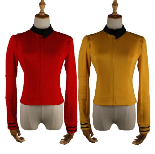 New Star Trek Discovery Season 2 Costume Female Top Starfleet Commander Uniform With Badge Woman Costumes Adult Cosplay Costume