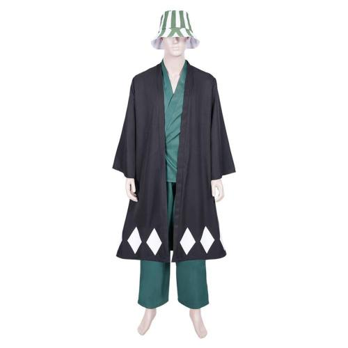 Anime Bleach Urahara Kisuke Coat Pants Hat Outfits Halloween Carnival Suit Cosplay Costume